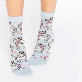 Pug Riding Unicorns Socks